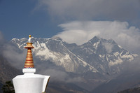 Sagarmāthā with the Tengboche Stupa in the foreground